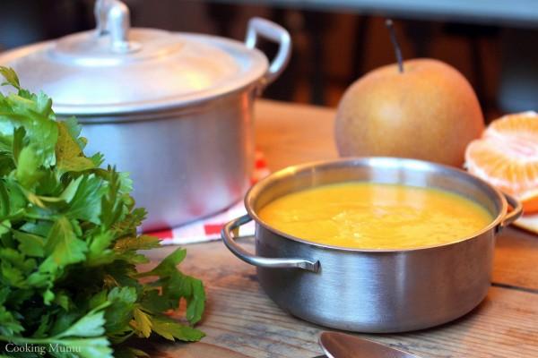 Soupe veloutée au butternut et bananes