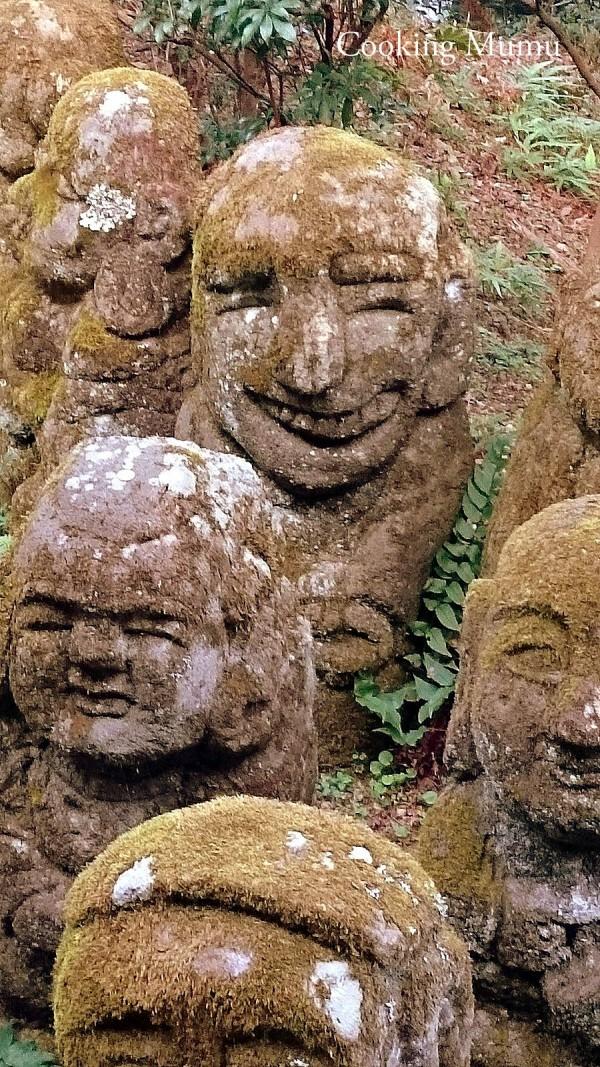 Statues rigolotes Nembutsu-ji