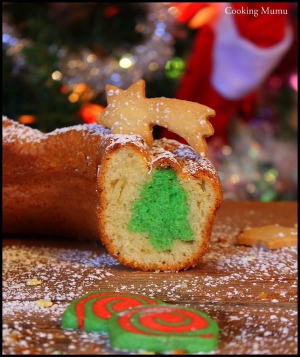 Sapin dans cake surprise