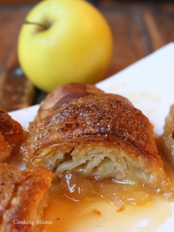 Croissant aux pommes et sauce