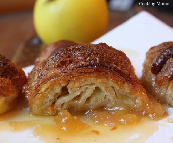 Croissant caramel et pomme