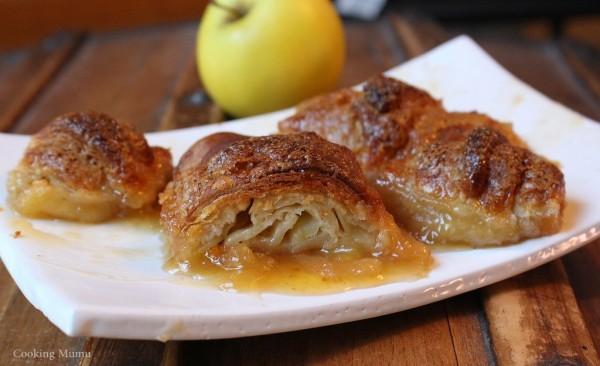 Croissant caramel pomme