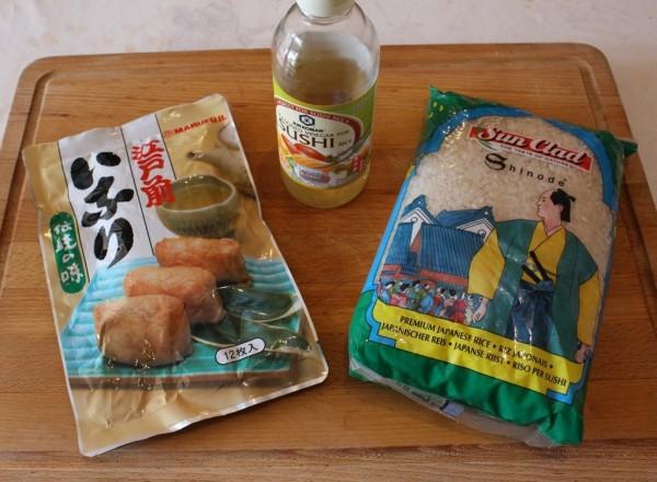 Ingrédients Inarizushi