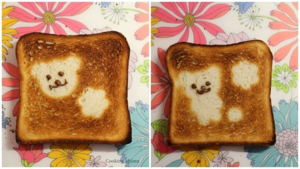 Nounours sur toasts