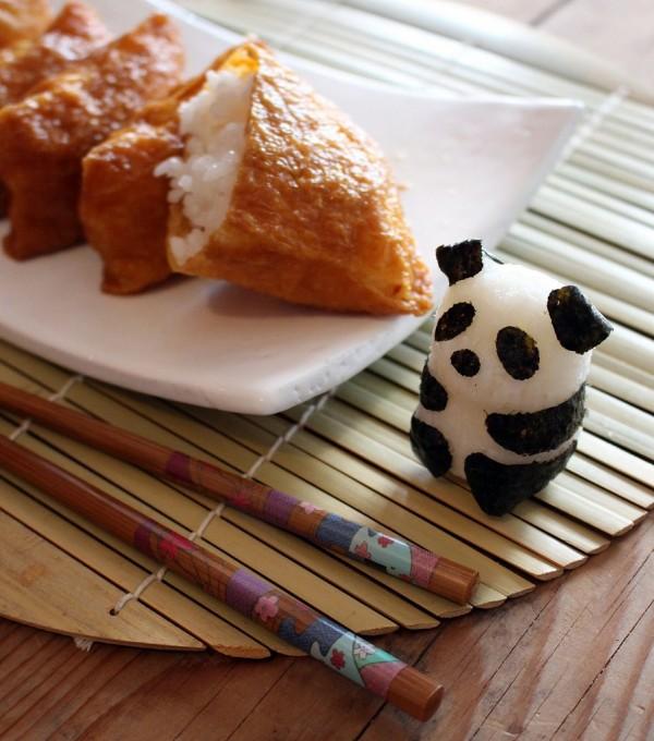 Panda rice inarizushi