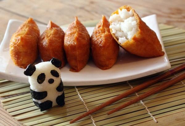 Riz à sushi dans poche de tofu frit