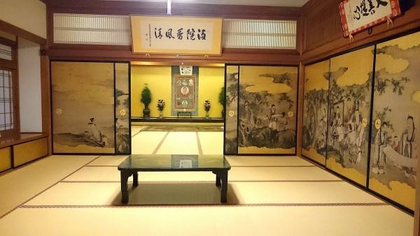 Salle dans le temple