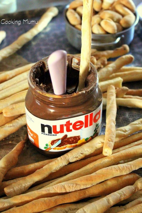 Gressins et nutella