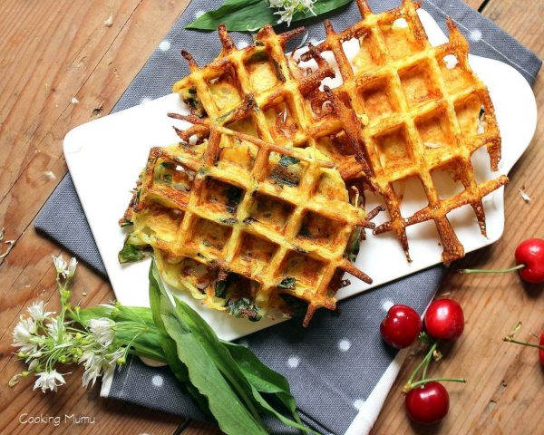 Gaufre patate ail des ours