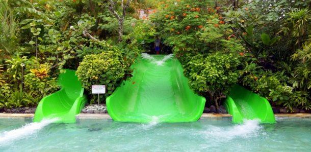 Toboggans verts waterbom