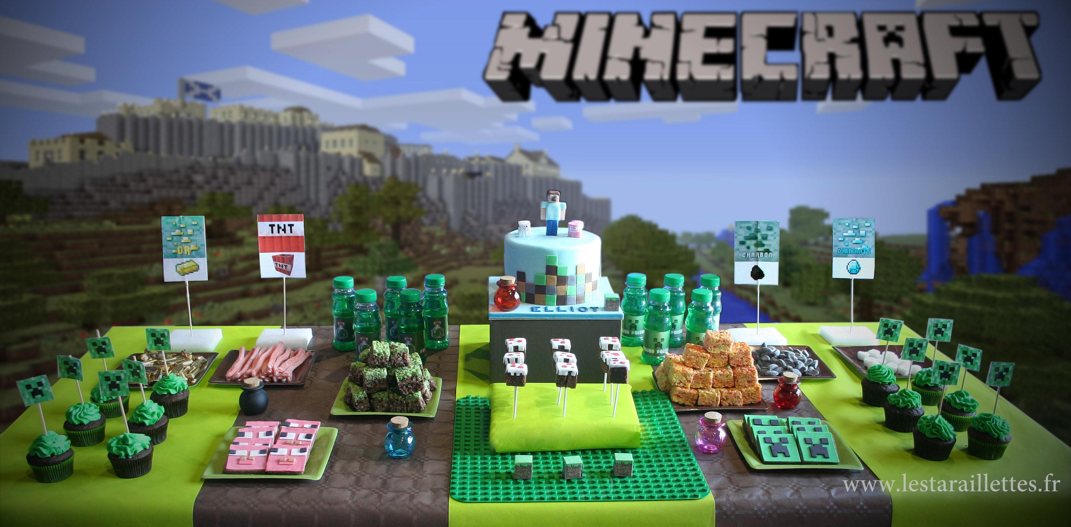 sweet table minecraft les taraillettes cooking mumu. Black Bedroom Furniture Sets. Home Design Ideas